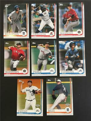 2019 Topps Pro Debut Detroit Tigers Team Set 8 Cards Minor League
