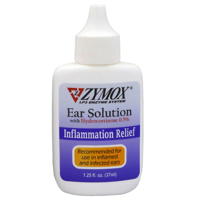 Zymox Ear Solution with 0.5-Percent Hydrocortisone, 1.25-Ounce (Free shipping)