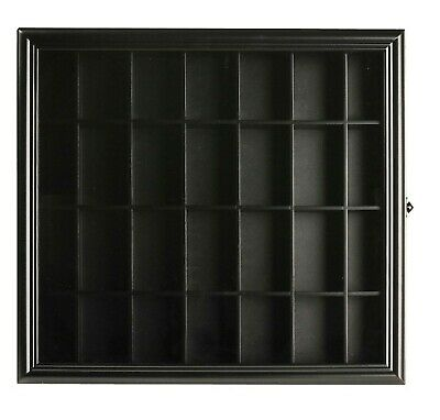 Gallery Solutions Shot Glass Display Case Excellent Gift Black