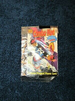 Combo Man Marvel Comics Factory Sealed Prepaid Phone Card Combos 1996 EXPIRED