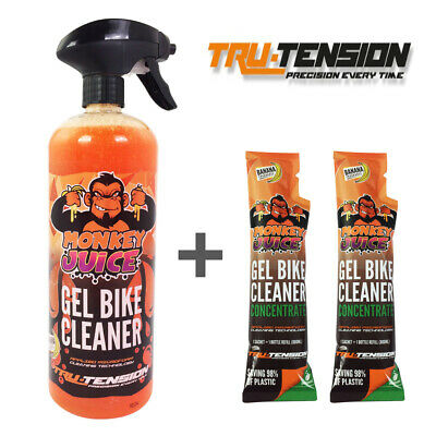 Monkey Juice 'Gel' Motorcycle All Over Wash Cleaner 1 Bottle + 2 Refill Sachets