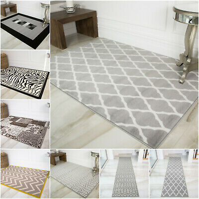 Grey Modern Soft Quality Rugs Small Large Cheap Mats Hallway Hall Area Runners