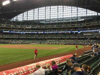 2 Tickets Milwaukee Brewers Chicago Cubs Miller Park 9/7 Section 127