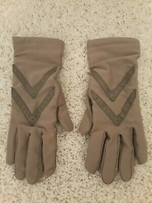 Vintage ISOTONER ORIGINAL ONE SIZE STRETCH WOMENS GLOVES Taupe Pre-Owned