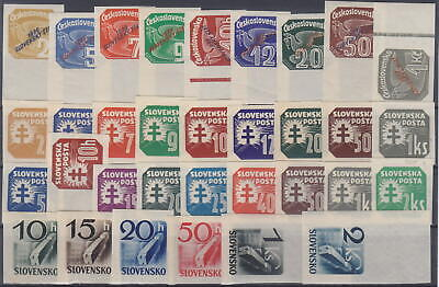 Slovakia - Nazi Germany Occupation 1939-1943 Complete Newspaper Stamps -**Mnh**