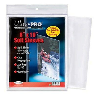 1 Pack (50) Ultra Pro 8 X 10 Photo Storage Sleeves Holders Protection