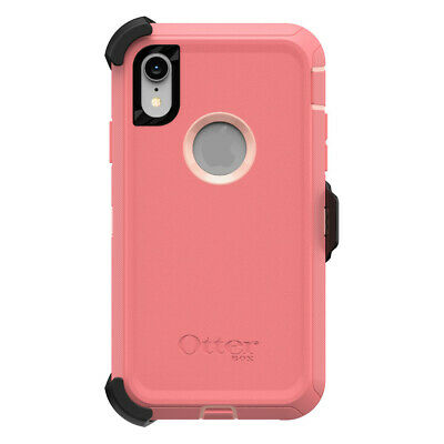 OtterBox DEFENDER SERIES Case & Holster for iPhone XR (ONLY) - Pink Lemonade
