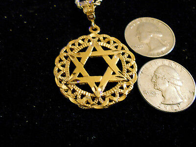 bling gold plated 6 point star of david pendant charm necklace hip hop jewelry