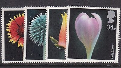 Gb Great Britain 1987 Flower Paintings Set Never Hinged Mint