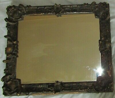 An Antique Georgian 18Th Century Mirror With Classic Gesso Frame