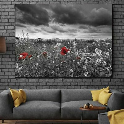 Landscape Flower Canvas Painting Tree Canvas Painting Pictures Wall Art Print