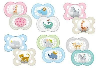 Baby Soother Dummy Pacifier Teat Nipple 0m+ / 6m+ Boy / Girl 2Pk Mam Nature