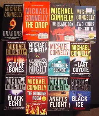 Michael Connelly~Lot 10 PB~Harry Bosch Series # 1-3,6,8,14-17,20~Burning Room~VG