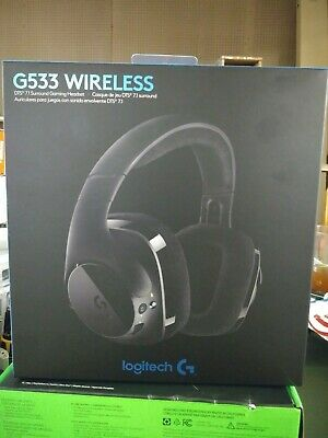 98541011b46 Logitech G533 Wireless Gaming Headset DTS 7.1 Surround Sound Pro-G sealed