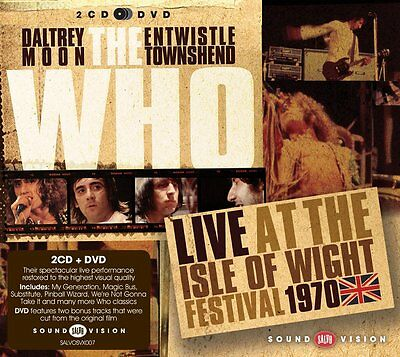 THE WHO Live at the Isle of Wright Fest 1970 2CD -1DVD Pal UK Mod Power-Pop L@@K