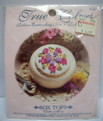 Ribbon embroidery kit - cluster of posies - box top series