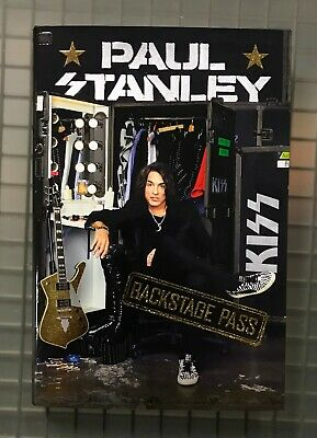 Paul Stanley Signed BACKSTAGE PASS Hardcover Book Autographed AUTO KISS