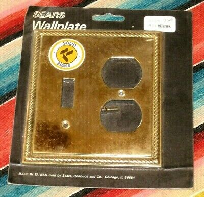 NIP New Lot of 6 Vintage Solid BRASS Electric Outlet Switch & Outlet Wall Covers