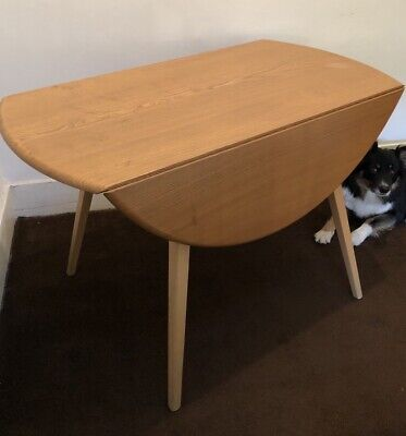 Lovely Blonde Ercol Vintage Retro Mid Century Drop Leaf Kitchen Dining Table