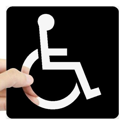 CafePress Handicapped Sign Sticker Square Sticker  (1491131272)