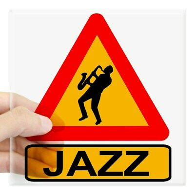CafePress Jazz Caution Sign Sticker Square Sticker  (1819003595)