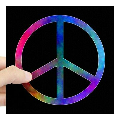 CafePress Multicolored Peace Sign Sticker Square Sticker  (1929663347)