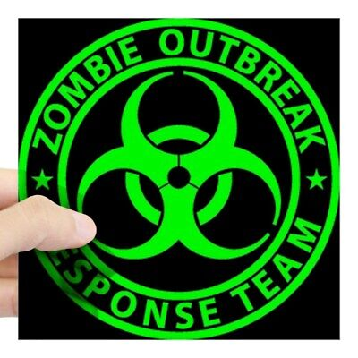CafePress Zombie Outbreak Response Team Sign Sticker Square Sticker  (35689370)