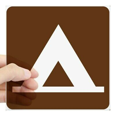 CafePress Camping Tent Sign Sticker Square Sticker  (834596533)