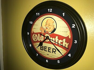Old Dutch Beer Bar Man Cave Advertising Black Wall Clock Sign