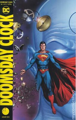 Doomsday Clock (DC) 1B 2018 Frank Superman Variant FN- 5.5 Stock Image Low Grade