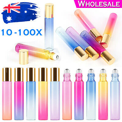10ml Gradient Color Glass Roll On Essential Oil Empty Perfume Bottle Roller Ball