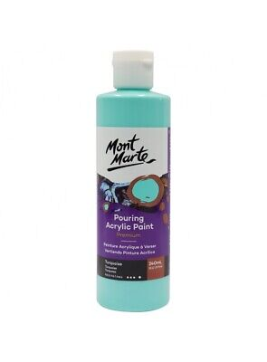 Mont Marte Pouring Acrylic 240ml - Turquoise for Fluid Art