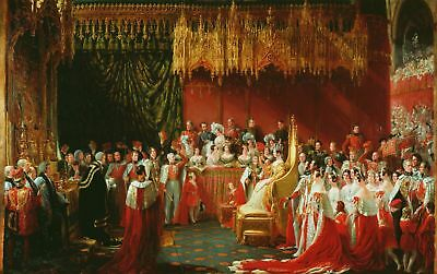 "oil painting handpainted on canvas""Coronation of Queen Victoria ""@N8841"