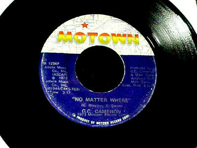 G.C. CAMERON No Matter Where NORTHERN SOUL CROSSOVER/FUNK 45 Motown HEAR