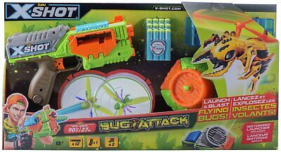 X-SHOT Bug Attack Swarm Seeker 10 Dart Capacity Indoor/Outdoor 8+ Years