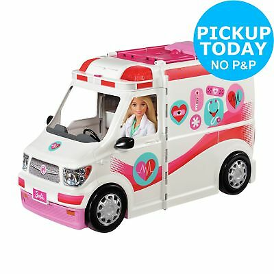 Barbie Care Clinic Vehicle Playset White/Pink  3+ Years