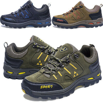 Mens Hiking Sport Boots Walking Ankle Trail Trekking Trainers Shoes Uk Size 5-11