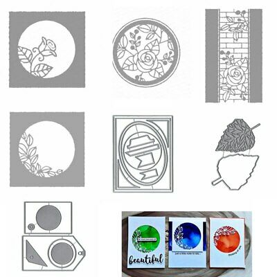 Rose Frame Tags Leaves Cutting Dies Stencil Scrapbooking Card Making Embossing