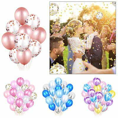 20X Confetti Latex BALLONS Filled Helium Balloon Birthday Party Wedding Decor