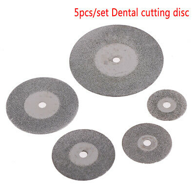 5 Pc Dental Ultra-Thin Sand Diamond Disc Wheel Porcelain Teeth Cutting.PolishiES