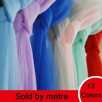 Mesh Net Fabric Tulle Material Stretch Dress Wedding DIY Costume By Metre
