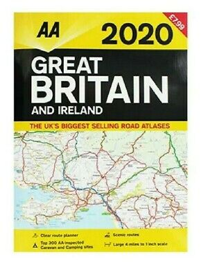 AA Great Britain and Ireland - 2020 Road Atlas Map UK Brand New Latest Edition