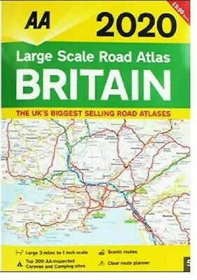 AA Large Scale Road Atlas Map Britain 2020 Brand New Latest Edition