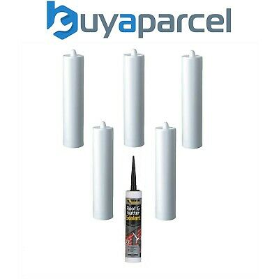Everbuild Weatherproof Roof and Gutter Sealant C3 Size Pack of 6