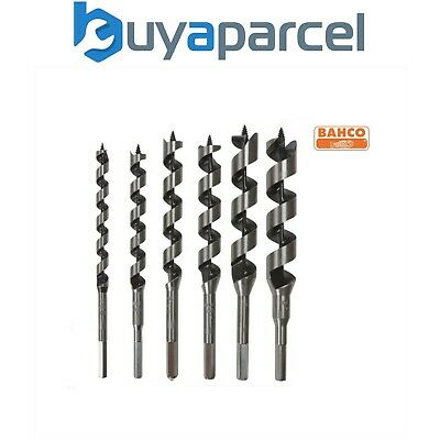Bahco Self-Feed Wood Auger 6 Piece Set Flute Drill Bits 10mm to 25mm SB-9526/S6
