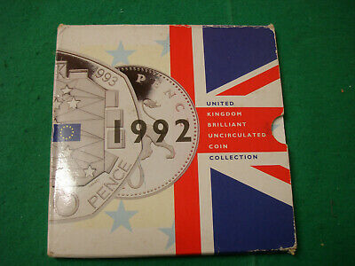 Uk 1992 Royal Mint Brilliant Uncirculated Coin Set Without Eec 50P