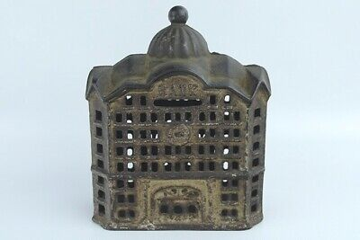 2 Antique A.C. Williams Cast Iron Dome-Top Still Coin Banks Early 1900s