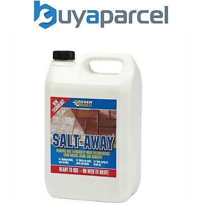 Everbuild Salt-Away Removes Salt Stains Efflorescence Marks 5L 5 LITRE SALT5