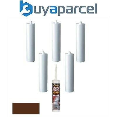 Everbuild External Frame Sealant Brown C3 Size Cartridge Pack of 6