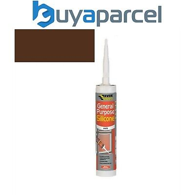 Everbuild General Purpose Silicone Brown C3 Size Cartridge
